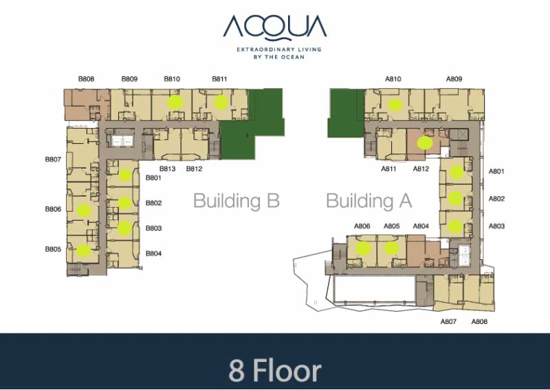Acqua condo for sale Jomtien Floorplan