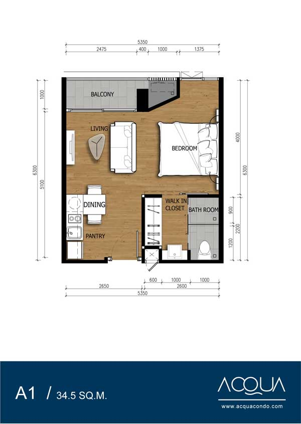 Roomplan-Acqua-Jomtien-Property-for-sale