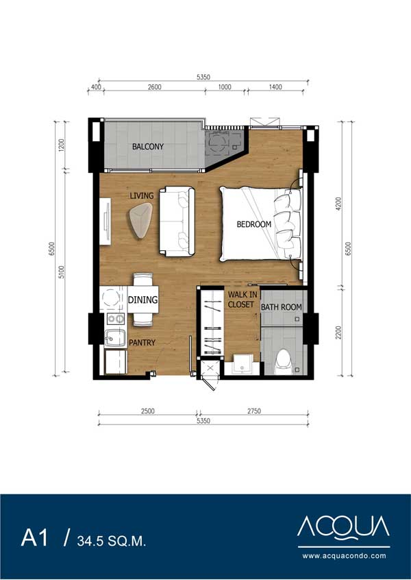 Roomplan-Acqua-Jomtien-condominium-for-sale