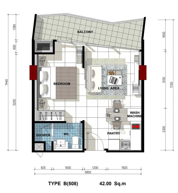 Roomplan-Acqua-Jomtien-estate-thailand