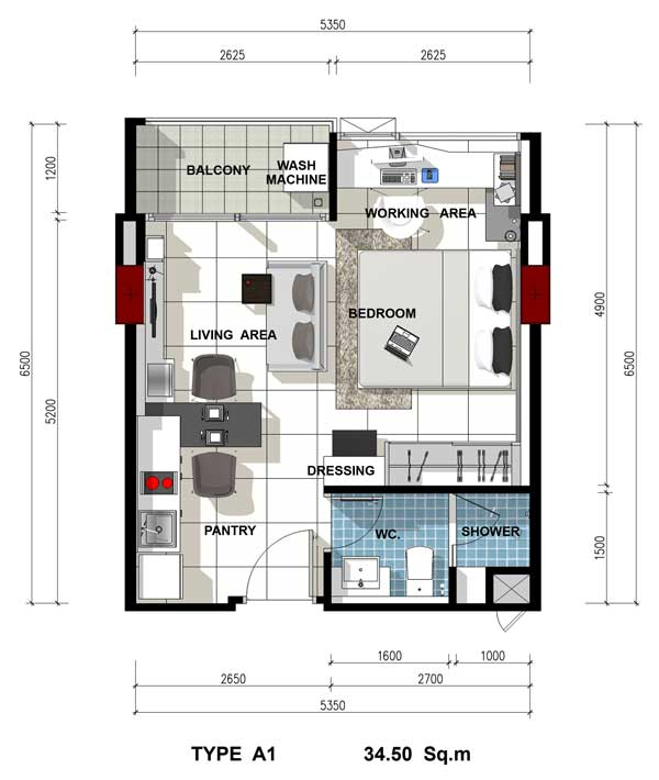 Roomplan-Acqua-Jomtien-property-real-estate