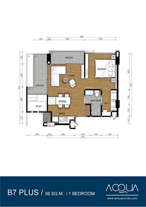 Roomplan-Acqua-Jomtien-rent-for-sale